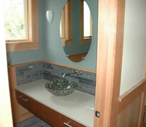 Powder Room Sink: Rich Elstrom Construction